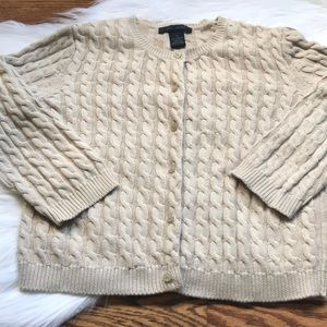 Cable knit beige cardigan from The Limited